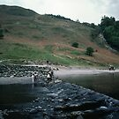 Dam on Lake Grasmere Lake District England 198405200037 by Fred Mitchell
