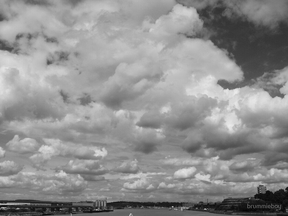 B & W Cloud Study (2) by brummieboy
