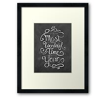 The Most Wonderful Time Framed Print