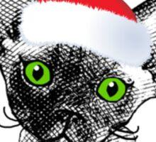 Devon Rex Christmas Kitten with text Sticker