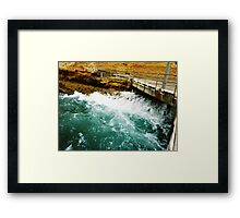 The other side of the Swell - Port Campbell Vic. Framed Print