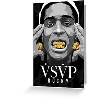 Gold Grills - ASAP Rocky Illustration Greeting Card