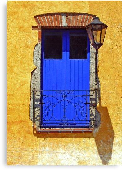 The Blue Balcony Door by MaluC