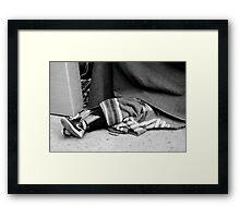 I have a nike shoes... Framed Print