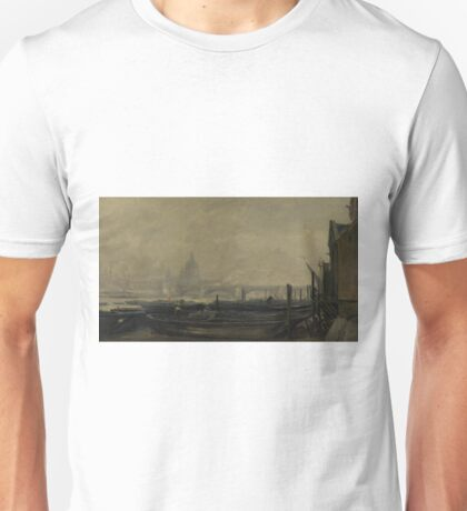 Charles-Francois Daubigny - St Pauls From The Surrey Side Unisex T-Shirt