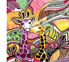 Giraffes in love by olarty