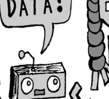 My Data? Robot Kid Sticker