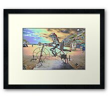 Frog Cycling, Sculptures By The Sea, Australia 2011 Framed Print