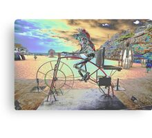 Frog Cycling, Sculptures By The Sea, Australia 2011 Canvas Print