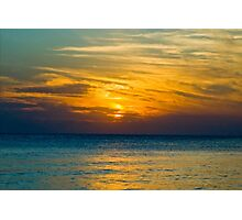 Dusk at Siesta Key Photographic Print
