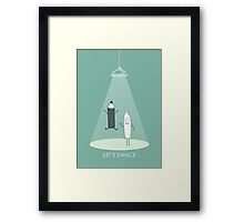 Cute dancing pencils Framed Print