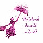 She believed she could so she did by Barbny