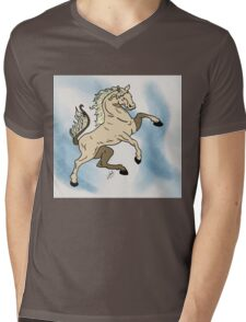 The Steed Mens V-Neck T-Shirt