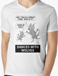DANCES WITH WOLVES Mens V-Neck T-Shirt