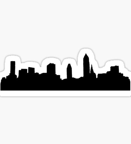 city - plain Sticker