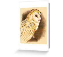 Pastel Owl Greeting Card