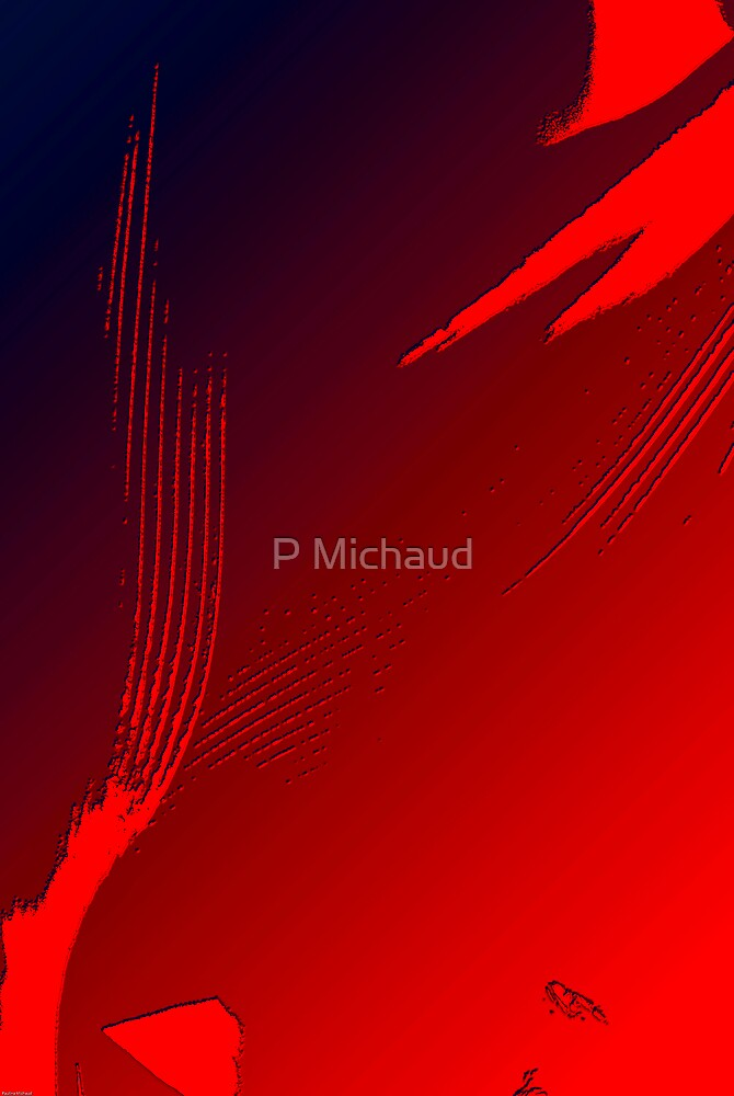 red abstract2 by P Michaud