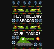 Ugly Christmas Sweater - This Holiday Season Give Tanks! T-Shirt