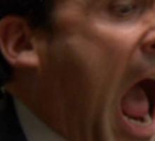 The Scream - Michael Scott Sticker