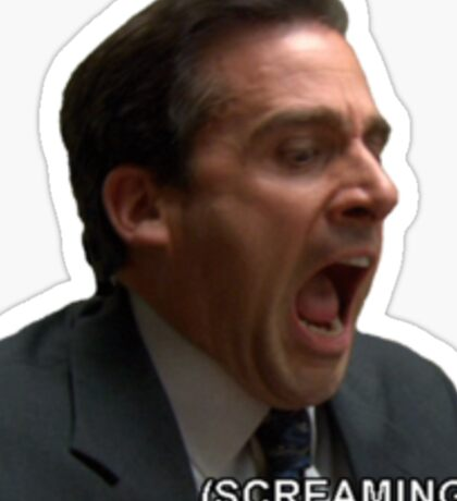 The Scream - Michael Scott Sticker