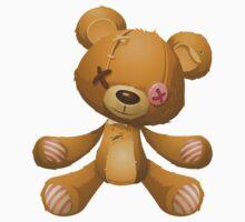 Glitch Overlay emo bear hug Kids Tee