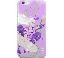 Skate Girl Purple Fly iPhone Case/Skin
