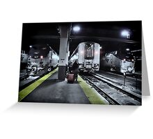 Train Platform - Union Station - Chicago  Greeting Card