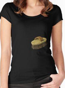 Glitch Overlay fox brush overlay Women's Fitted Scoop T-Shirt