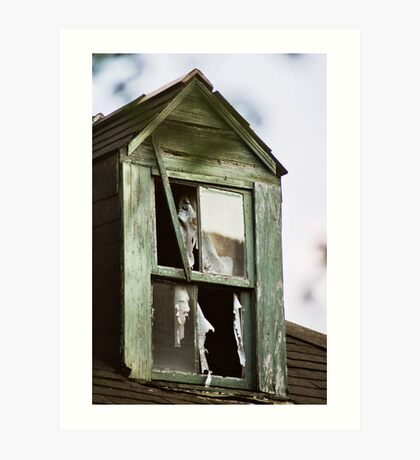 Watching windows...... Art Print