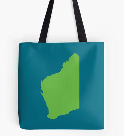 WA Western Australia map Tote Bag