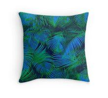 brazil palm tree graphic retro design pattern Throw Pillow