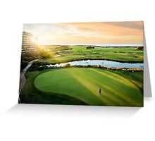 Golfing the Gong Greeting Card