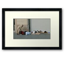 Cardboard City, Barcelona Framed Print