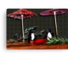 Penguin Romance Canvas Print