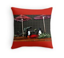 Penguin Romance Throw Pillow