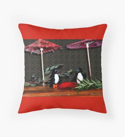 Penguin Romance Throw Pillow