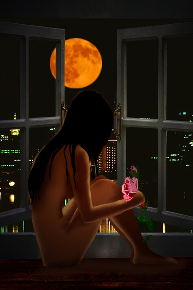Girl and Moon by YourSuccess