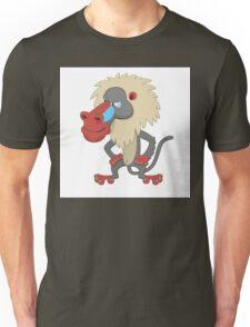 Funny cartoon baboonCute happy cartoon baboon standing Unisex T-Shirt