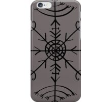 Veldismagn, Icelandic Magical Binding Rune, Protection, Lucky Charm iPhone Case/Skin
