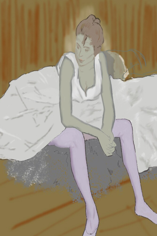 Reproduction A Seated Dancer with Pink Stockings(Lautrec)  by YourSuccess