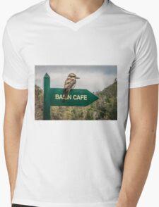 Cataract Gorge Kookaburra Mens V-Neck T-Shirt