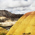 Yellow dunes in The Badlands by Robyn Lakeman