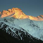 In the Hall of the Mountain King- Mount Sefton at Dawn by Ben Loveday
