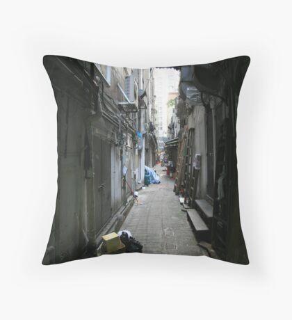 Hong Kong Alley Throw Pillow