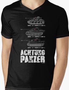 ACHTUNG PANZER Mens V-Neck T-Shirt