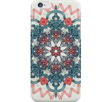Coral & Teal Tangle Medallion iPhone Case/Skin