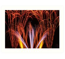 Fountains Of Fireworks Art Print