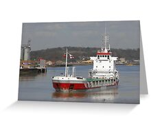 Freighter in the sun ... Greeting Card