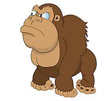 Grumpy cartoon Gorilla Photographic Print