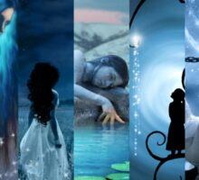 Blue Fantasy Collage Sticker